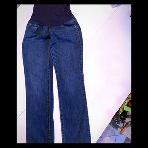 Indigo Blue jeans with navy panel